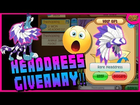 YOU COULD WIN THIS HEADDRESS + SPIKE GIVEAWAY! ANIMAL JAM