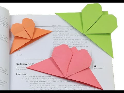 How To Make A Simple Heart Shaped Paper Bookmark Easy Paper Heart