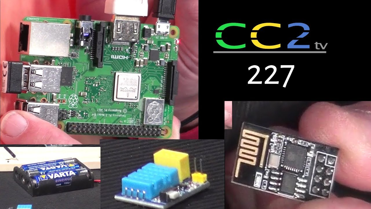 cc2tv 227 wlan thermometer selbst bauen und der raspi mit stahlhelm youtube. Black Bedroom Furniture Sets. Home Design Ideas