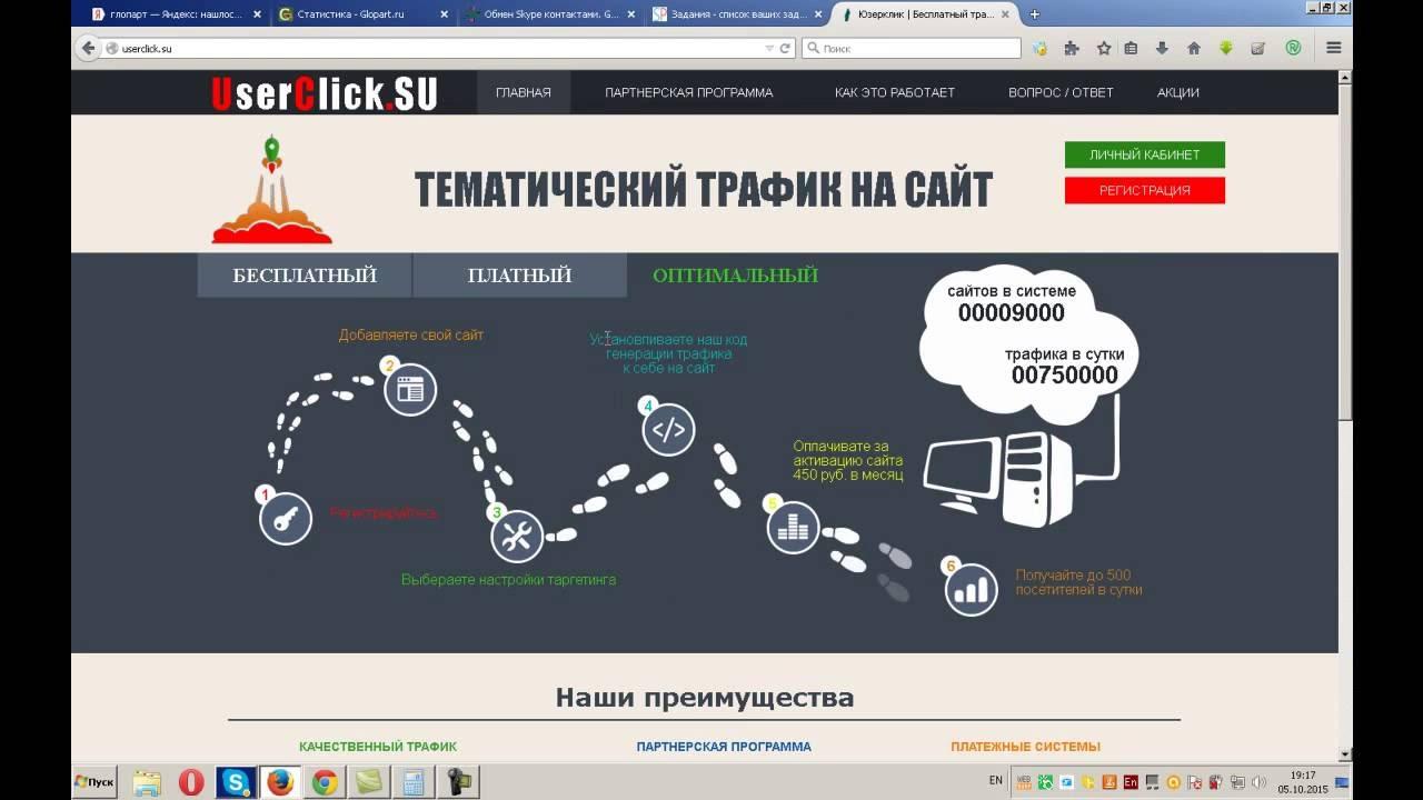 Зарабатываем с userclick - трафик или как заработать 8000 руб. На|заработок в рублях на автомате
