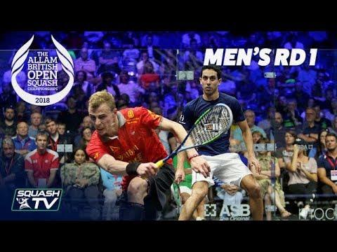 Squash: Allam British Open 2018 - Men's Rd1 Round-up