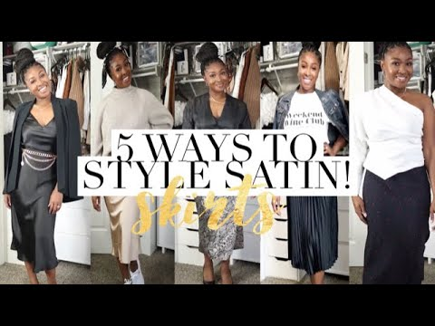 [VIDEO] - 5 SATIN SKIRT OUTFITS | SATIN SKIRT TREND JASMINE GANT 2