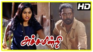 Achamindri Movie Scenes | Samuthirakani arrested | Vijay Vasanth and Srushti escape from goons