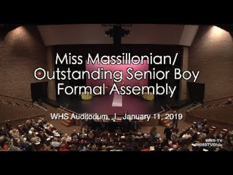 1.11.2019: Miss Massillonian / Outstanding Senior Boy 2019