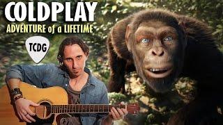 Como Tocar Adventure Of A Lifetime (Coldplay) En Guitarra Acústica Fácil TCDG