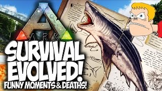 ARK SURVIVAL EVOLVED! 100 PREHISTORIC WAYS TO DIE!!  FUNNY MOMENTS & DEATHS!!