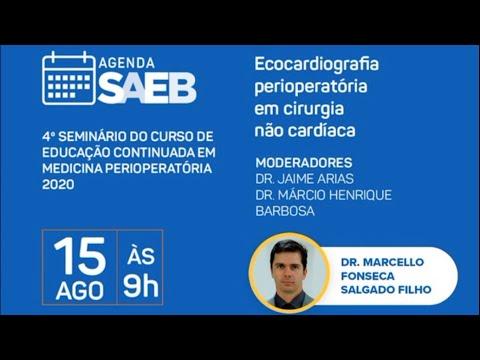 """4º Seminário SAEB - """"Ecocardiografia perioperatória em cirurgia não-cardíaca"""""""