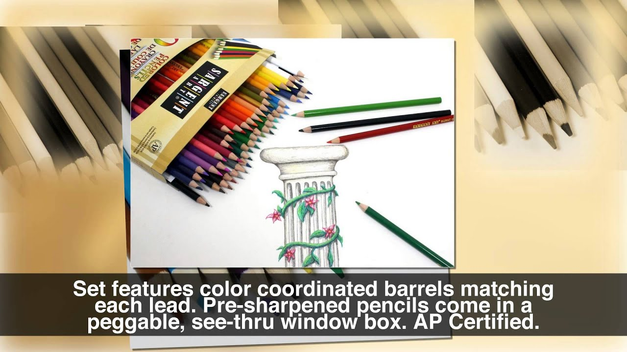 Color art colored pencils - Sargent Art 22 7251 Colored Pencils Pack Of 50 Assorted Colors Youtube