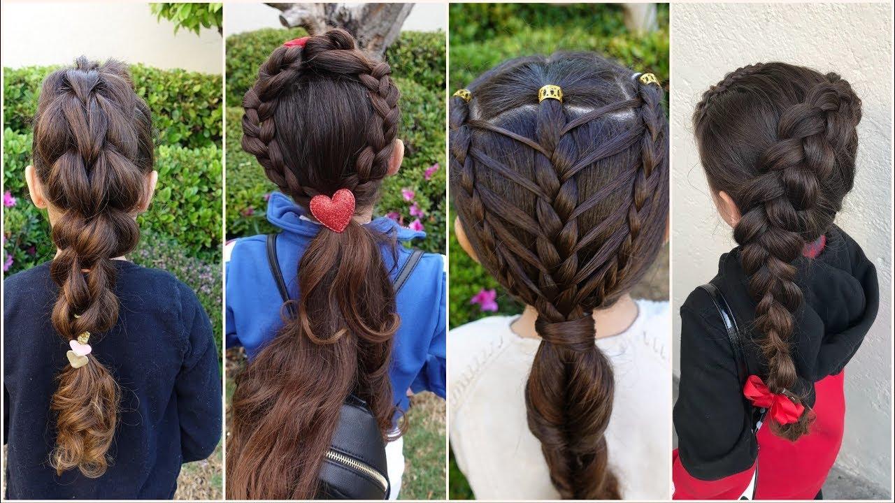 للشعر الطويل تسريحات شعر اطفال للعيد
