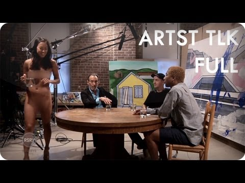 Pharrell Williams Interviews David Salle & KAWS | ARTST TLK