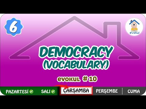 Democracy (Vocabulary) | 6. Sınıf #uzaktanegitim #evokul Kampı