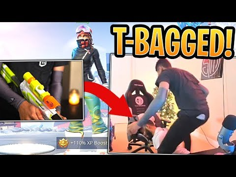 Myth Left His Stream, Snuck into Hamz' Room and T-Bagged Him After Nerf Gunning Him! - Fortnite
