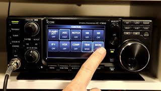 Icom IC7300 A to Z #7 Preamps Attenuator & RIT
