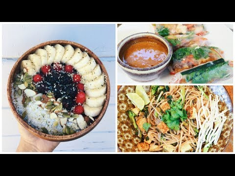 WHAT I EAT IN A DAY + HEALTHY VEGAN FOOD HAUL | ItsMandarin