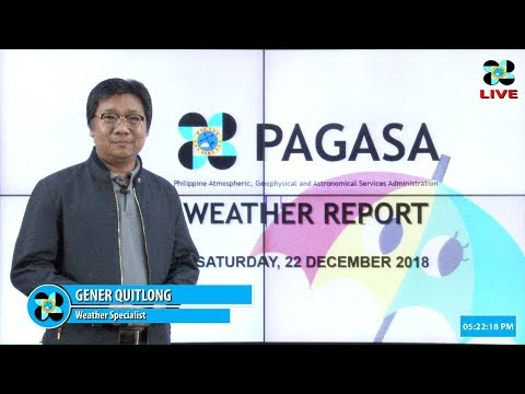 Public Weather Forecast Issued at 4:00 PM December 22, 2018