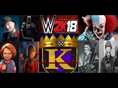 WWE 2k18 King of The Ring Horror Movie Characters (Great Matches)