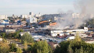 Пожежа на центральному ринку. м. Біла Церква