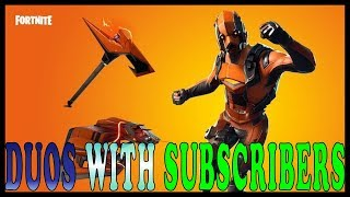 "NEW ""VERTEX"" SKIN in FORTNITE - Duos With SUBSCRIBERS // NEW ""EAGLE"" EMOTE // ROCKET TAKING OFF SOON"