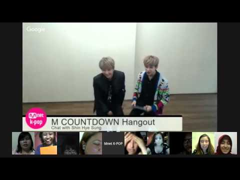M COUNTDOWN Hangout Chat with 신혜성(Shin Hye Sung)