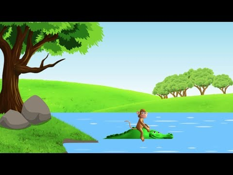 Bandar Aur Magarmach | बंदर और मगरमच्छ | Animation Moral Stories For Kids In Hindi