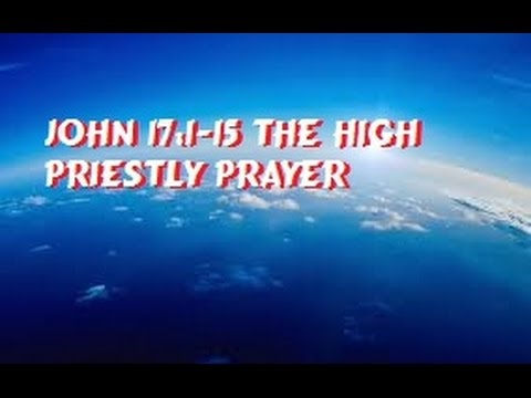 high priestly prayer This journey's devotional topic will be the high priestly prayer, based on john  17, in which our special guest speaker dave butts, will share a.