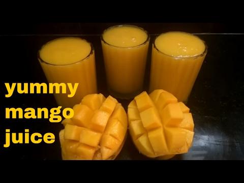 how to make fresh mango juice/ripe mango juice/