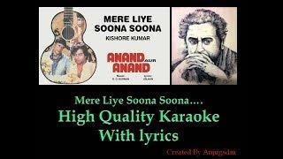 Mere Liye Soona Soona (Anand Aur Anand ) High Quality karaoke with lyrics
