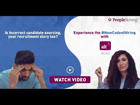 The smartest way to digitize your Recruitment processes | PeopleStrong Alt Recruit– Tap, Sort, Hire.