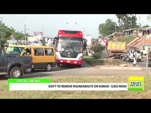 Gov't To Remove Roundabouts On Kumasi - Ejisu Road