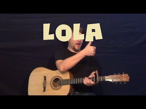 Lola (Kinks) Easy Guitar Lesson How to Play Tutorial - YouTube