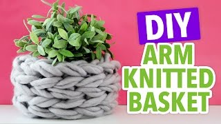 How to Arm Knit a Small Basket - HGTV Handmade
