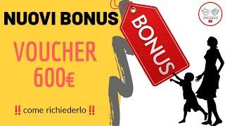 Nuovo BONUS FAMIGLIA €600: VOUCHER BABY SITTER 2020
