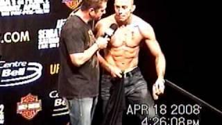 UFC 83 GSP and Serra Weigh in