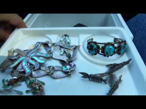 Taxco Sterling  + Native American Silver Turqouise Jewelry Finds Pick-Ups 7/5/18