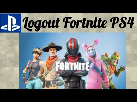 How to Logout of Fortnite PS4 - Season 9 - 2019