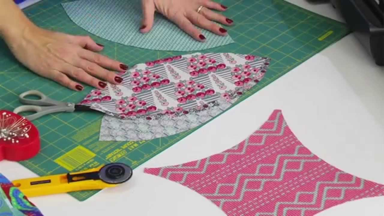 Sizzix Double Wedding Ring Quilting Die Demo Youtube