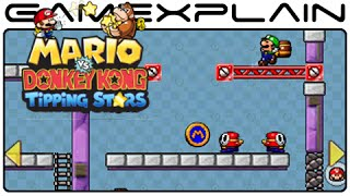 Mario vs Donkey Kong: Tipping Stars - Level Creator Gameplay (3DS)