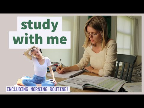 Real-Time 3-hours Study with me (incl. morning routine) (with breaks!)
