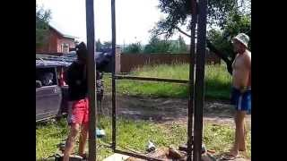 сварка каркаса(строительство заборов в Серпухове., 2013-07-31T06:06:54.000Z)