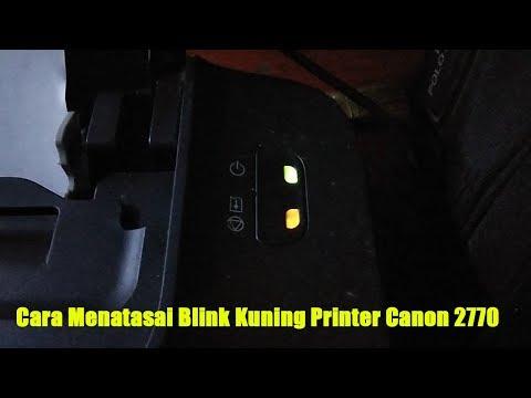 Cara Reset Printer Canon IP2770 Error Number 5B00 Lampu Power Dan Kertas Berkedip Bergantian.