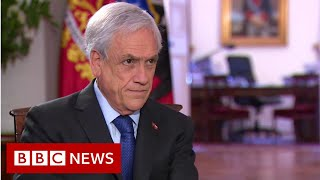 Chilean President Piñera 'will not resign' [Full Interview] - BBC News
