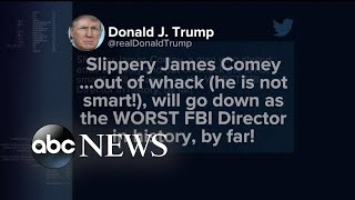 Trump tweets and calls James Comey,