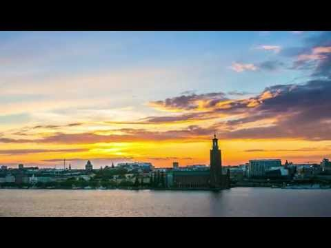 Stockholm Time lapse - Sunset