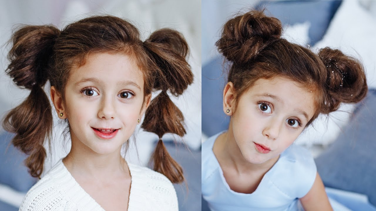 2 Easy Hairstyles For Girls Ponytail From Air Braid Sute Ears