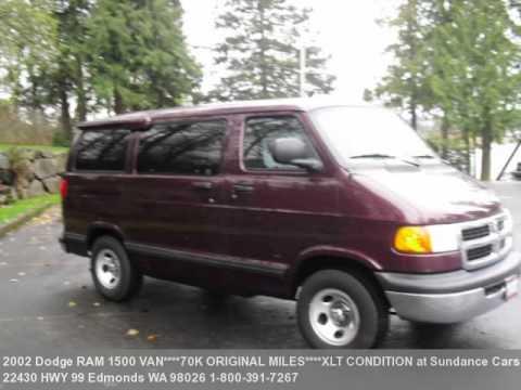 2002 Dodge Ram 1500 Van 8 Penger 70k Actual Miles Xl