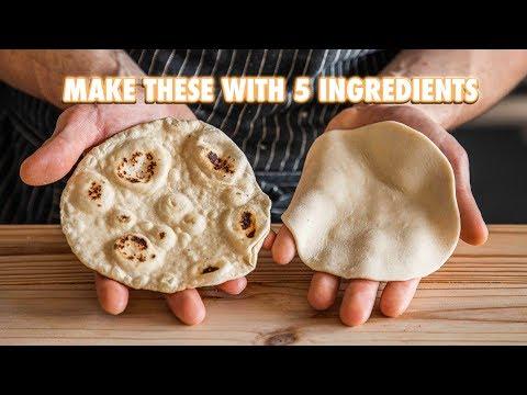 5 Ingredient Homemade Flour Tortillas