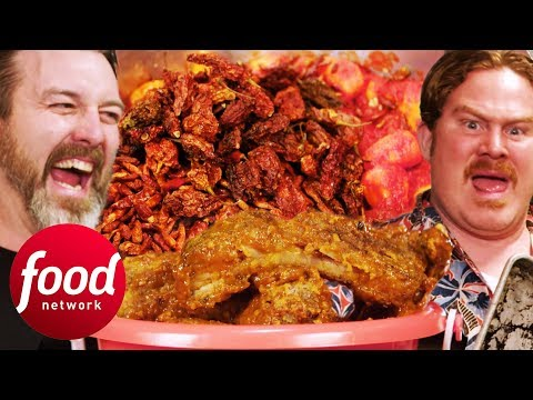 1M Scoville Ribs Give Casey A Fiery Challenge He'll Never Forget   Man v Food
