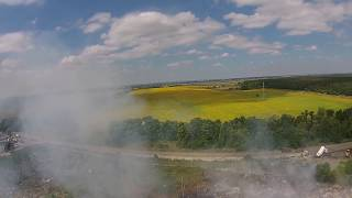 Под Павлоградом горит свалка (вид с квадрокоптера)