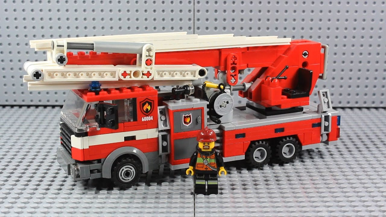 Custom Lego Vehicle Ladder Truck Fire Truck Youtube