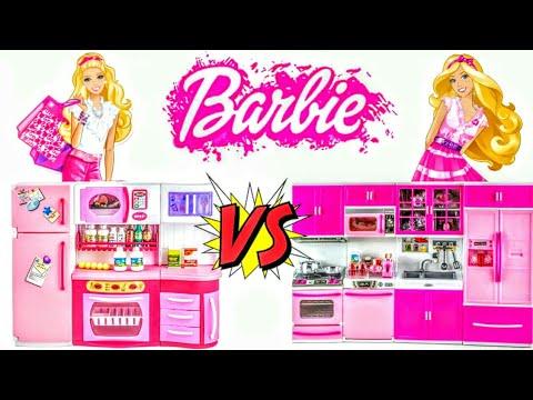 Кухня для Барби |  Modern Kitchen Vs Dolly Toy